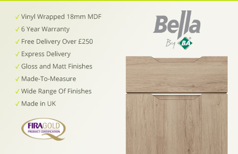 Bella Vinyl Bedroom Doors