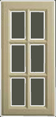 Glazed Georgian kitchen door 6 panel