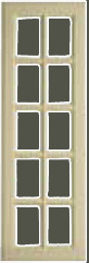 Glazed Georgian kitchen door 10 panel