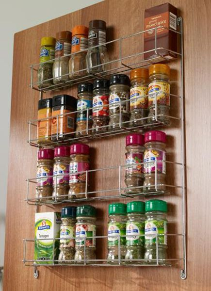 door mounted spice rack lark larks. Black Bedroom Furniture Sets. Home Design Ideas