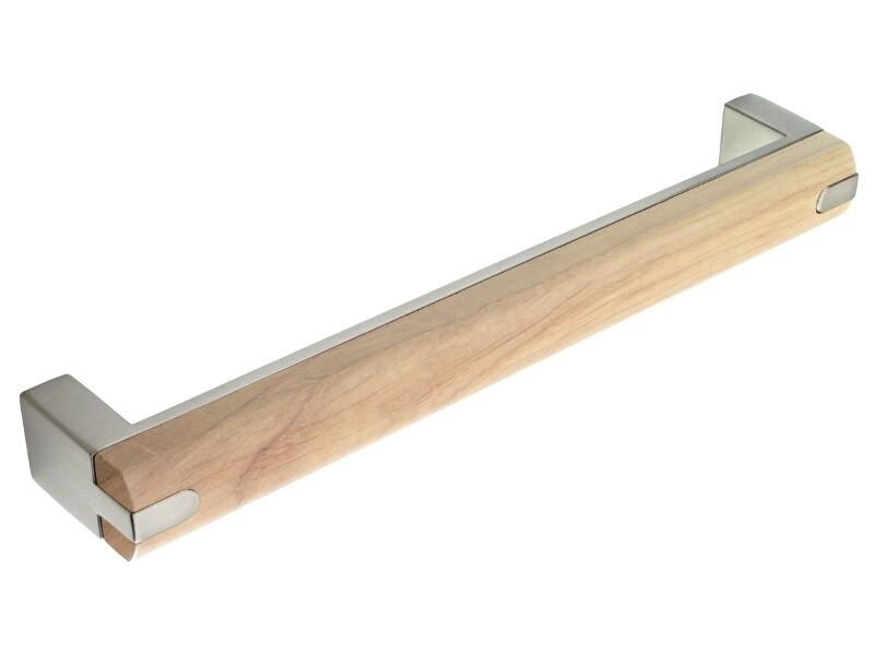 Brushed Steel Oak Combination D Handle