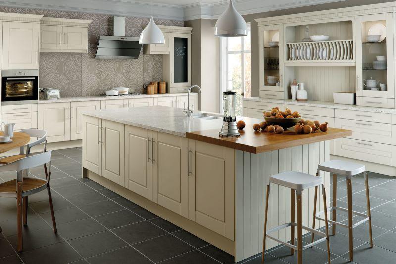Surrey Style Kitchen Alabaster Finish, Alabaster Kitchen Cupboard Doors