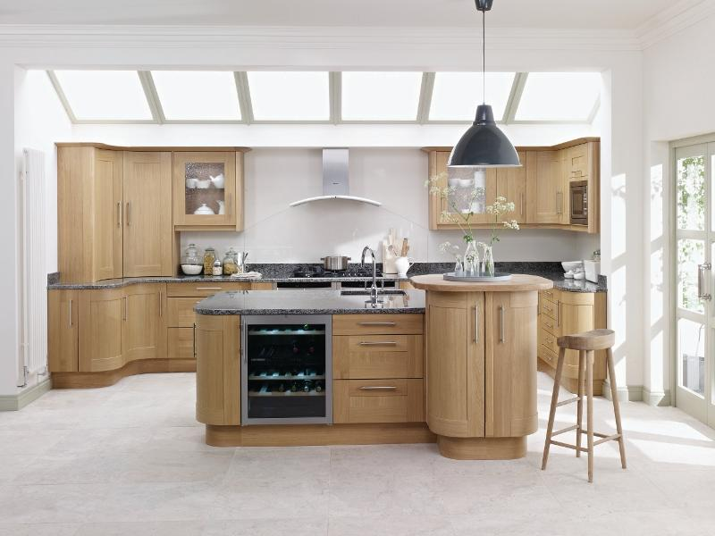 Broadoak natural oak kitchen lark larks for Natural wood kitchen designs