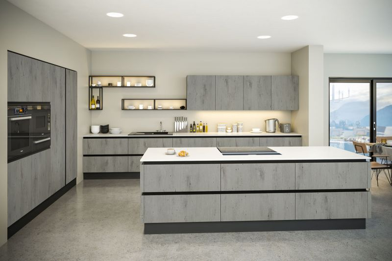 Venice Style Kitchen In London Concrete Finish