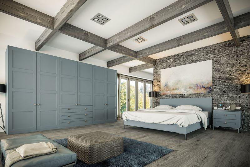 Bella Aldridge Bedroom In Matt Denim Finish