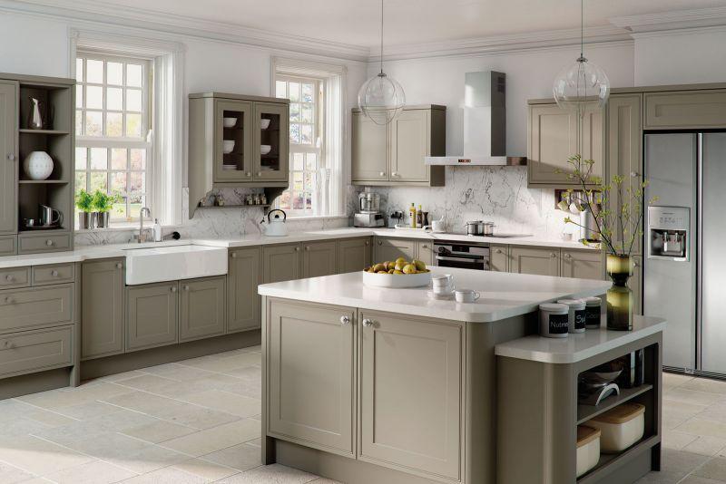 Tullymore Style Kitchen Matt Stone Grey