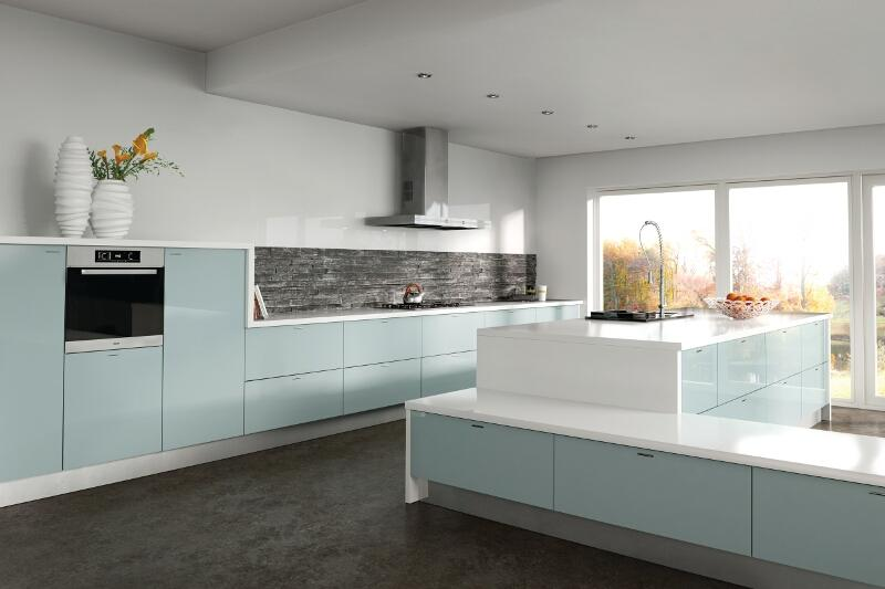 Zurfiz Kitchen In Metallic Blue Lark Amp Larks