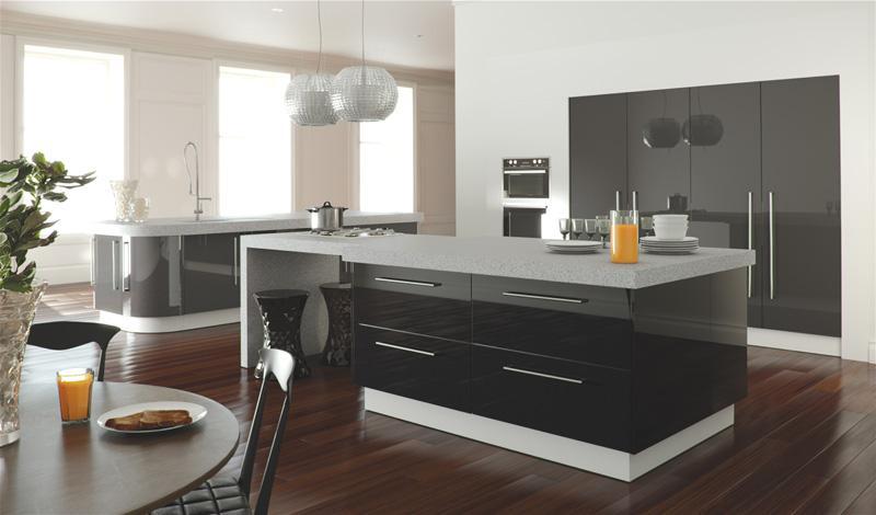 Zurfiz Kitchen In Metallic Anthracite And Metallic Black Mix