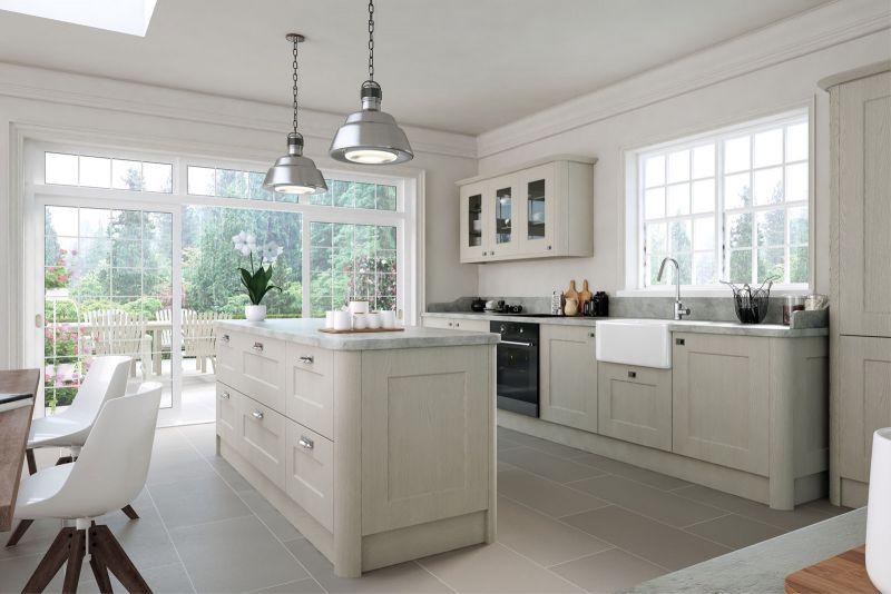 Cambridge Kitchen in Oakgrain Grey Finish