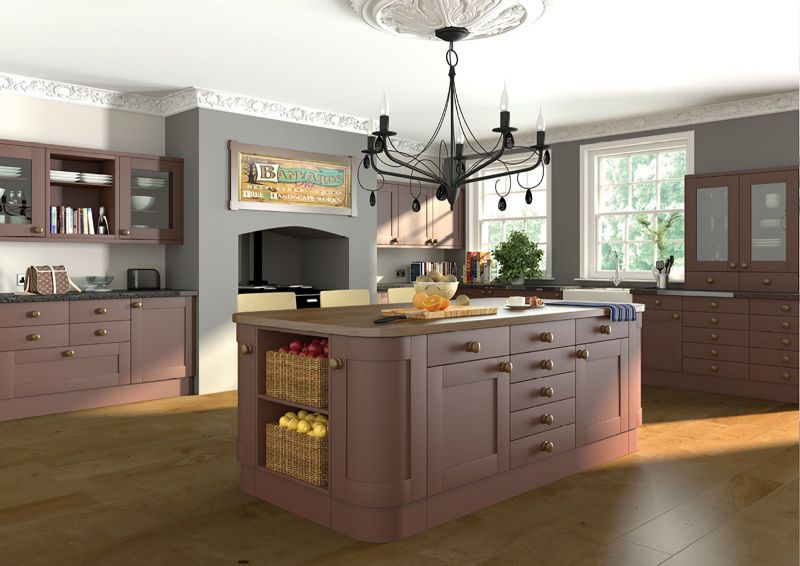 Shaker style cottage kitchen in paintable vinyl for Shaker style kitchen uk