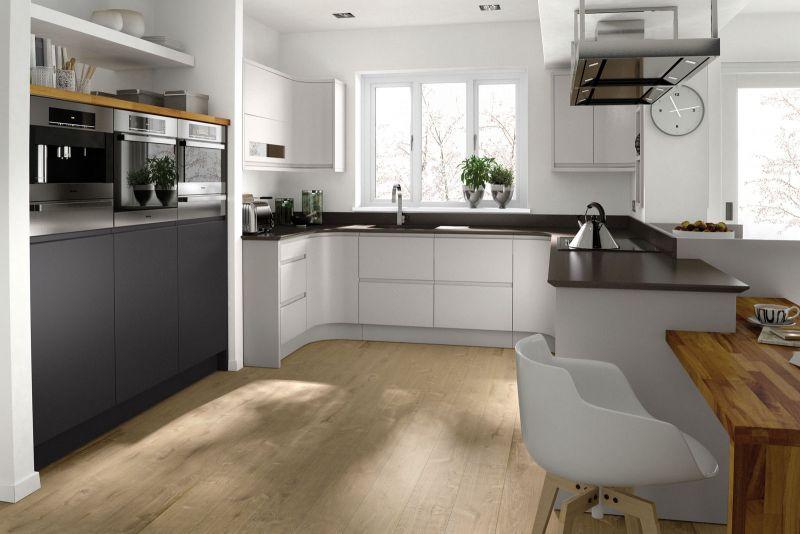 Remo Handleless Kitchen In Matt Dove Grey
