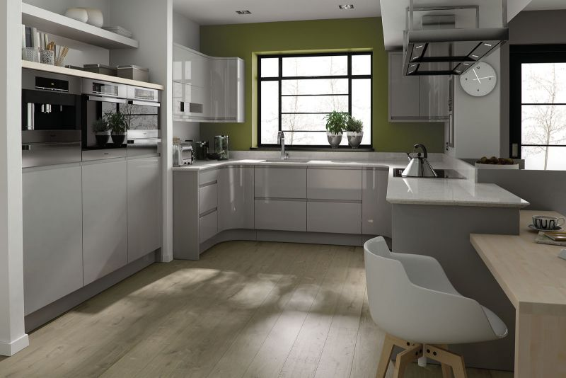 Remo Dove Grey High Gloss Lacquer Kitchen