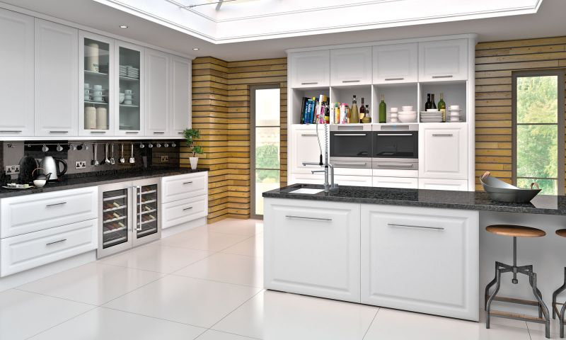 York Style Kitchen Satin White Lark Larks