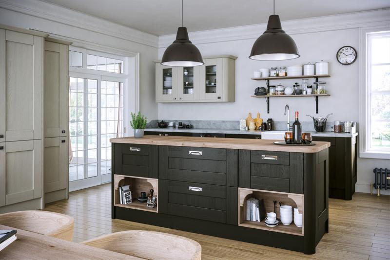 Wilton Oakgrain Graphite Kitchen Lark Amp Larks