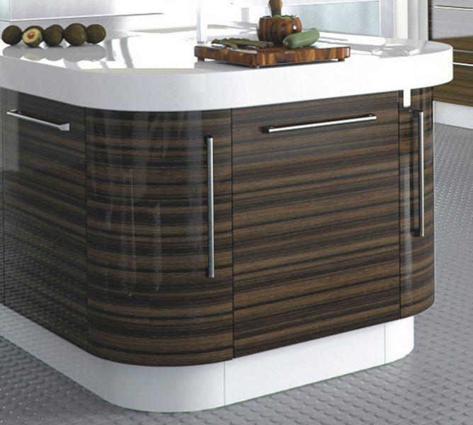 Zurfiz Curved Kitchen Door 715mm