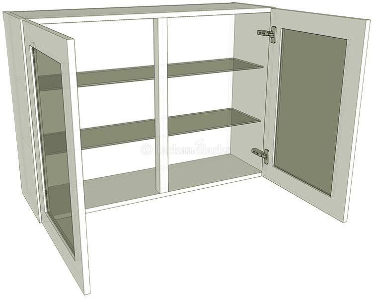 Glazed double kitchen wall unit tall 900mm high for Tall kitchen wall units