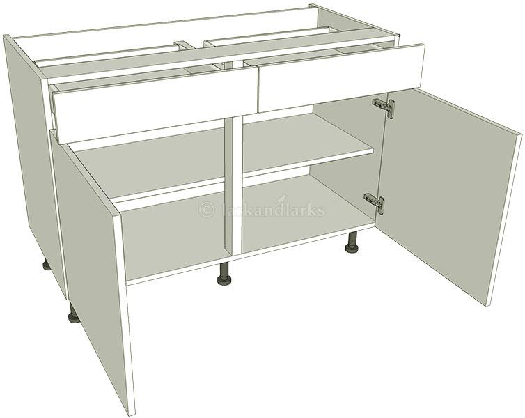 Drawerline kitchen base unit double lark larks for Double kitchen base unit