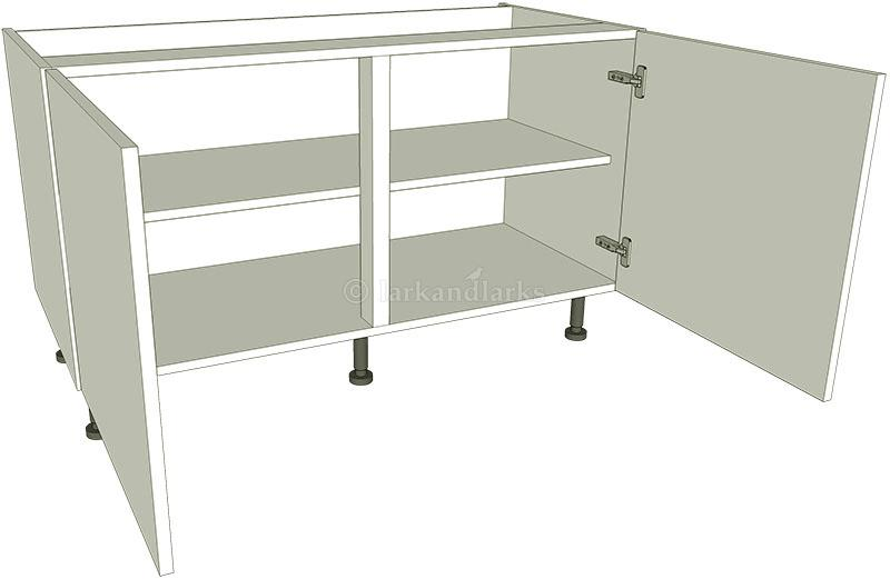 Low level kitchen base unit double lark larks for Double kitchen base unit