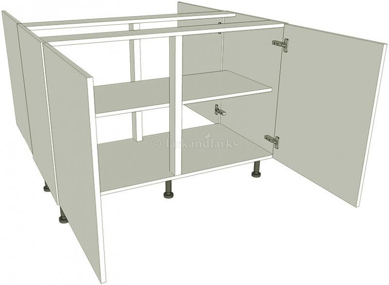 Peninsula highline kitchen base unit double for Double kitchen base unit