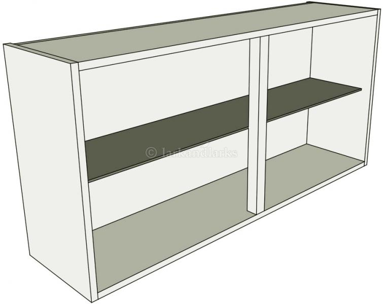 Glazed double kitchen wall unit low 575mm high lark for Double kitchen wall unit