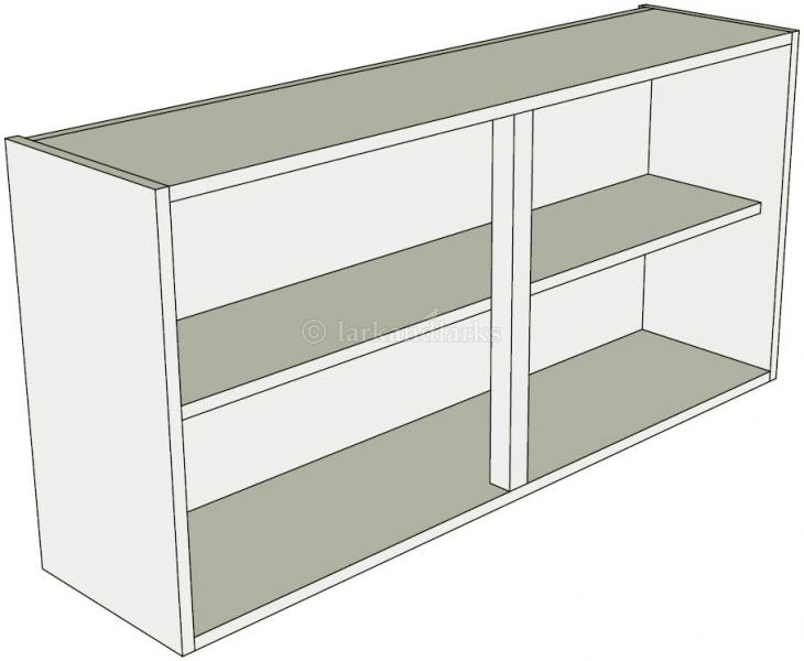 Low 575mm high double kitchen wall unit lark larks for Double kitchen wall unit