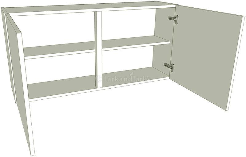 low 575mm high double kitchen wall unit On double kitchen wall unit