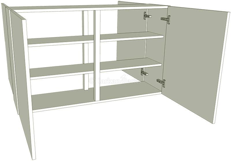 Peninsula kitchen wall unit medium double for Kitchen units on one wall