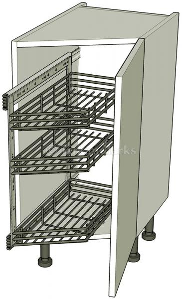 Angled kitchen base storage units highline for Kitchen base unit shelf