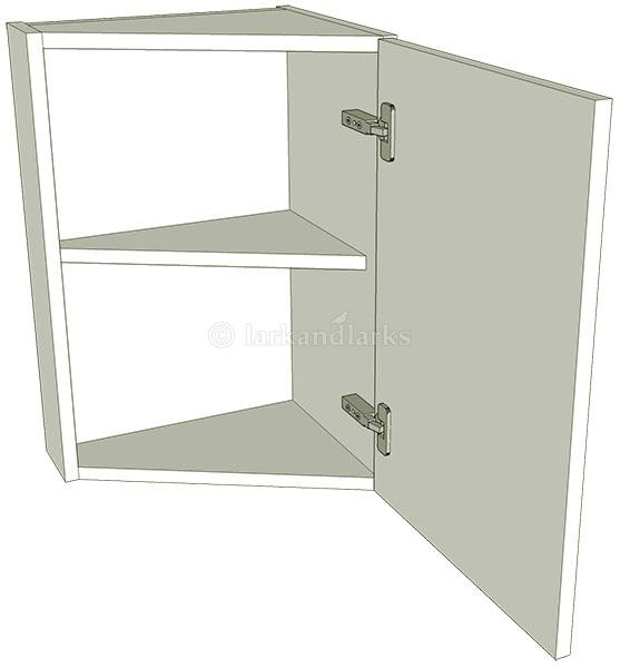 Angled kitchen wall unit low 575mm high for Full wall kitchen units