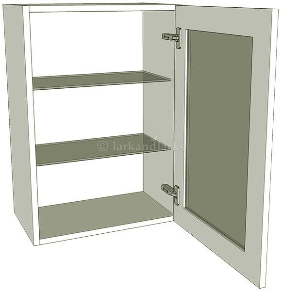 Glazed single kitchen wall unit tall 900mm high for Individual kitchen units