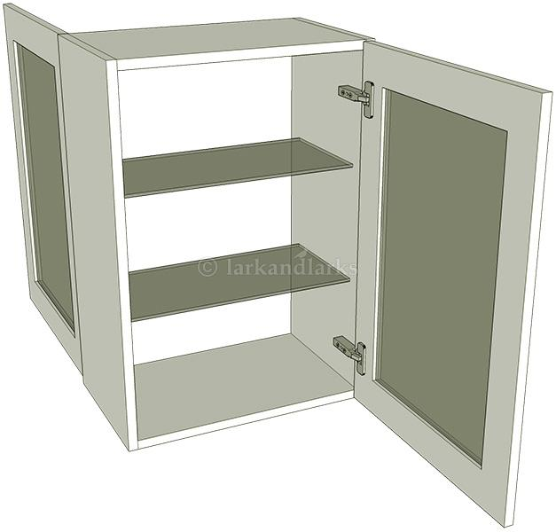 Peninsula glazed single kitchen wall unit medium for Full wall kitchen units