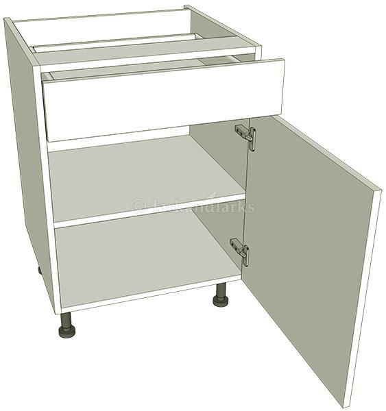 Drawerline kitchen base unit single lark larks for Basic kitchen base units