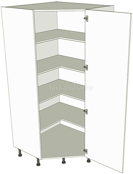 Diagonal tall storage unit 2150h lark larks for Kitchen base unit shelf