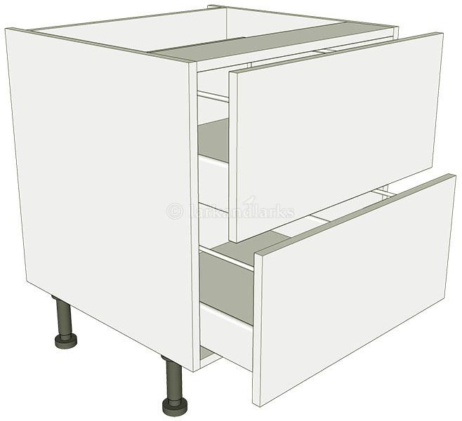 Low level 2 drawer base unit lark larks for Basic kitchen base units