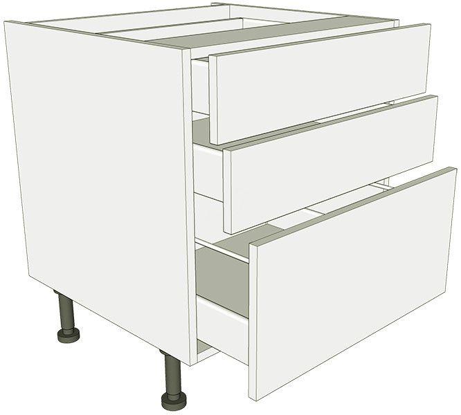 Low level 3 drawer base unit lark larks for 800 kitchen drawer unit