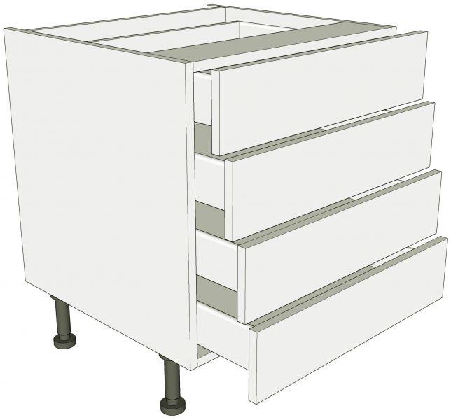 Low level 4 drawer base unit lark larks for Kitchen base unit carcase only