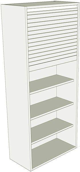 Tall dresser full height tambour unit lark larks for Full height kitchen units