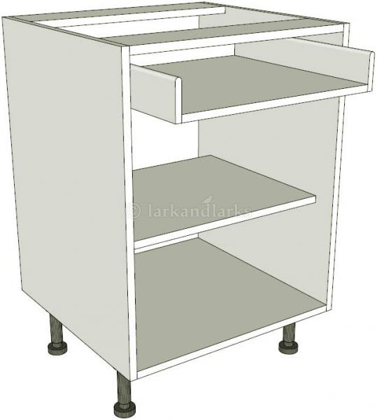 Peninsula single drawerline kitchen base unit for Service void kitchen units