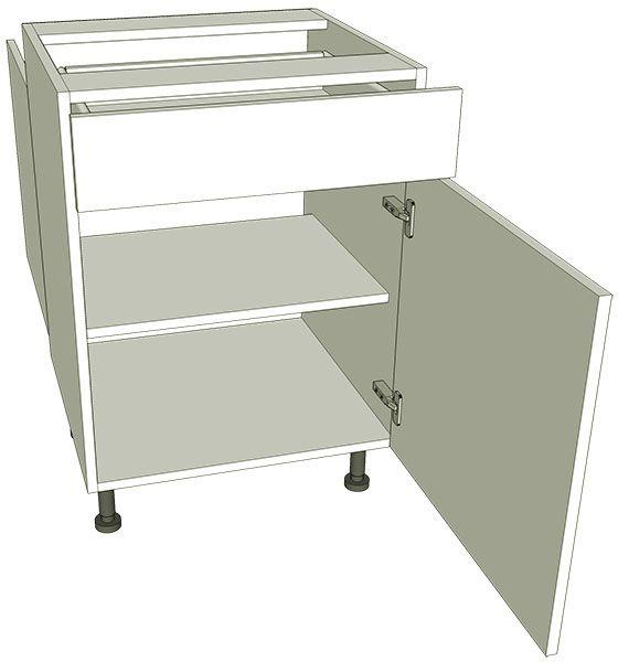 Peninsula single drawerline kitchen base unit for Kitchen base unit carcase only