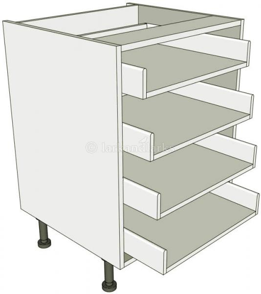 4 drawer base unit for Service void kitchen units
