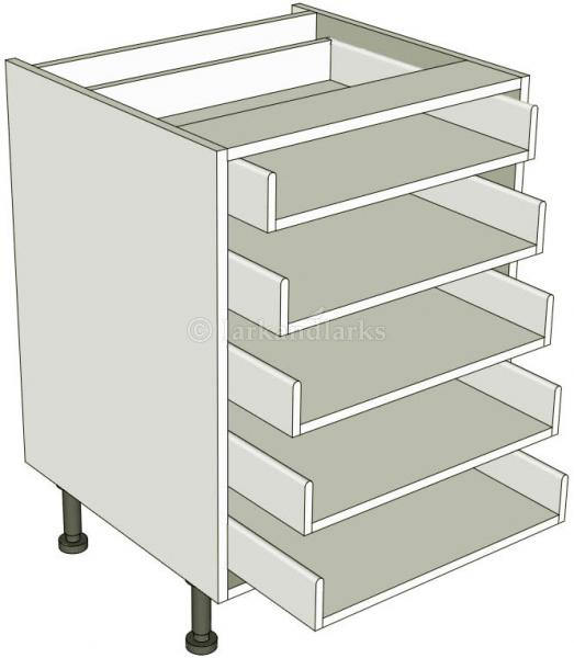 5 drawer base unit lark larks for Service void kitchen units