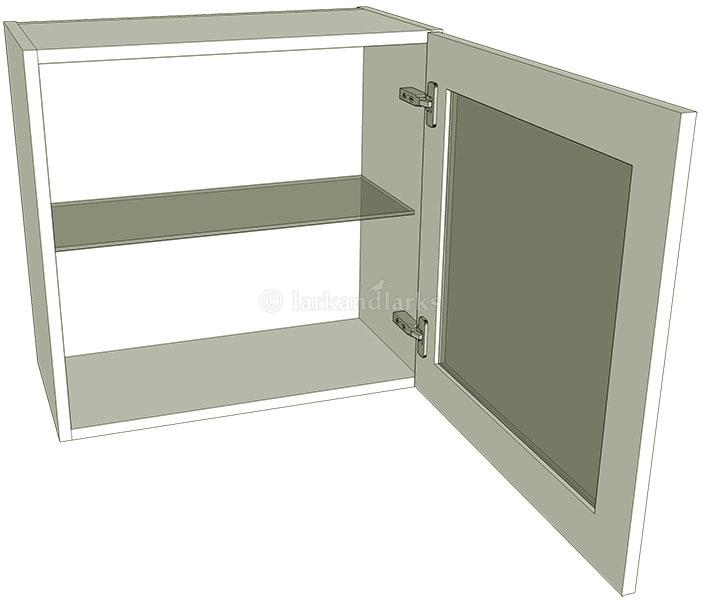 Glazed single kitchen wall unit low 575mm high for Individual kitchen units