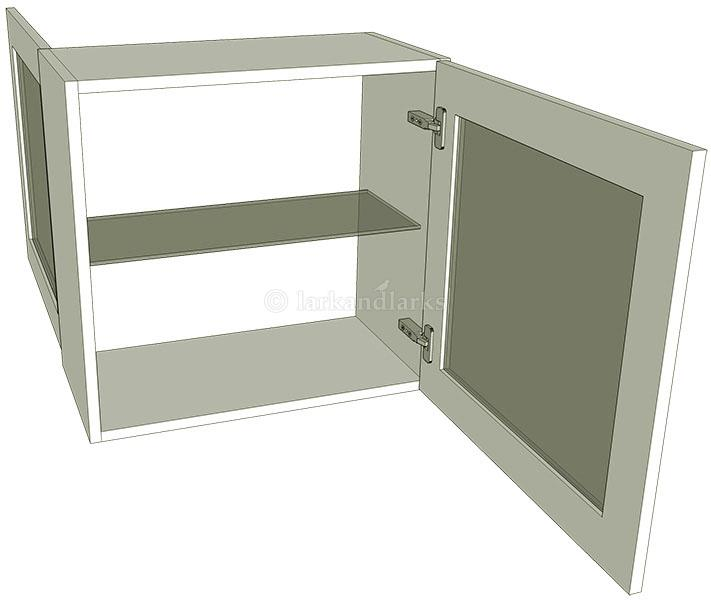 Peninsula glazed single kitchen wall units low for Individual kitchen units