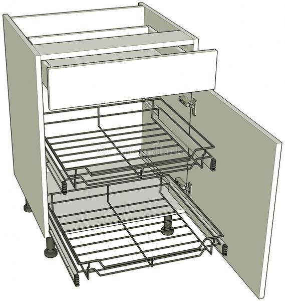 Kitchen base unit for pull out storage drawerline for Kitchen base unit shelf