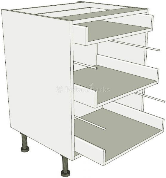 3 drawer base unit lark larks for Service void kitchen units