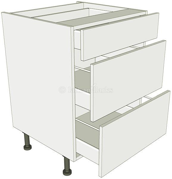 3 drawer base unit lark larks for Tall kitchen drawer unit