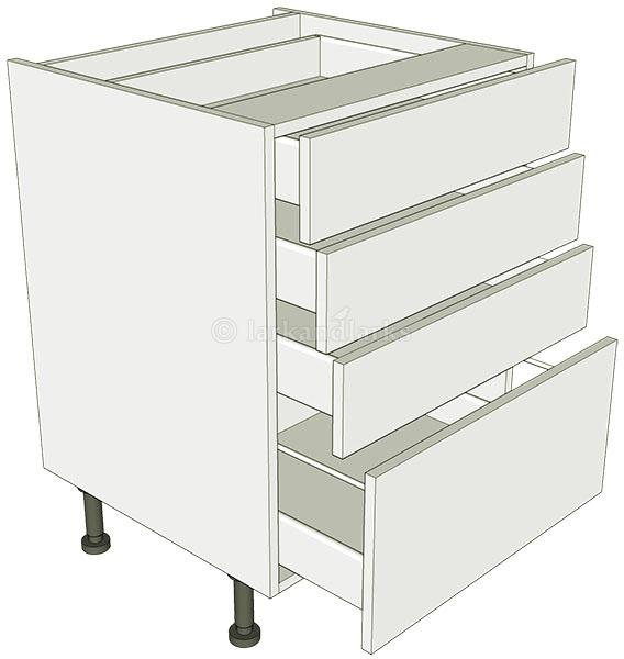 4 drawer pan base unit lark larks for 600 kitchen drawer unit