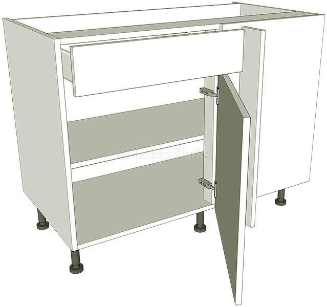 Variable corner kitchen base unit working drawer for Kitchen base unit carcass