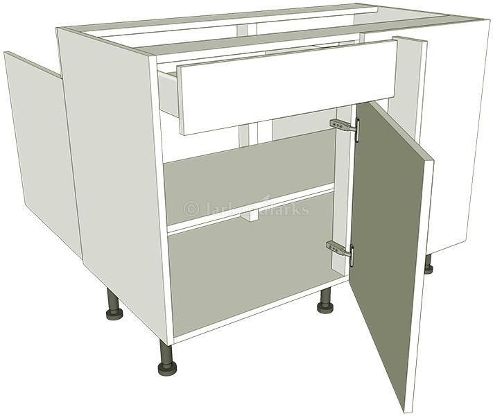 Peninsula variable corner drawerline lark larks for Kitchen base unit carcase only