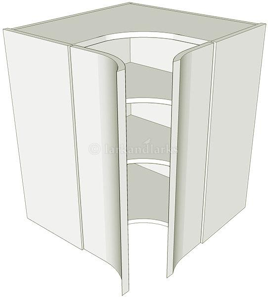Corner kitchen wall unit concave medium lark larks for Large kitchen wall units